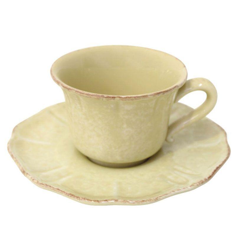 Набор желтых чашек с блюдцами Impressions, 6 шт