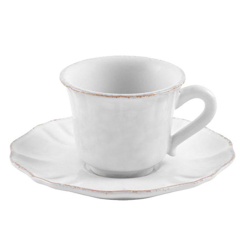 Чашки для кофе с блюдцами, набор 6 шт. Impressions white