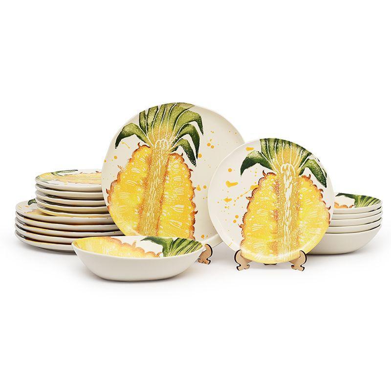 """Сервиз столовый с изображением ананаса """"Фруктовый коктейль"""""""