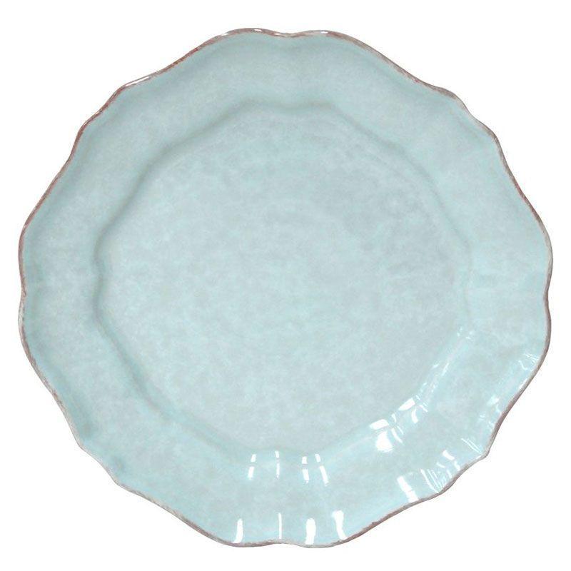 Тарелки бирюзовые, набор 6 шт. Impressions
