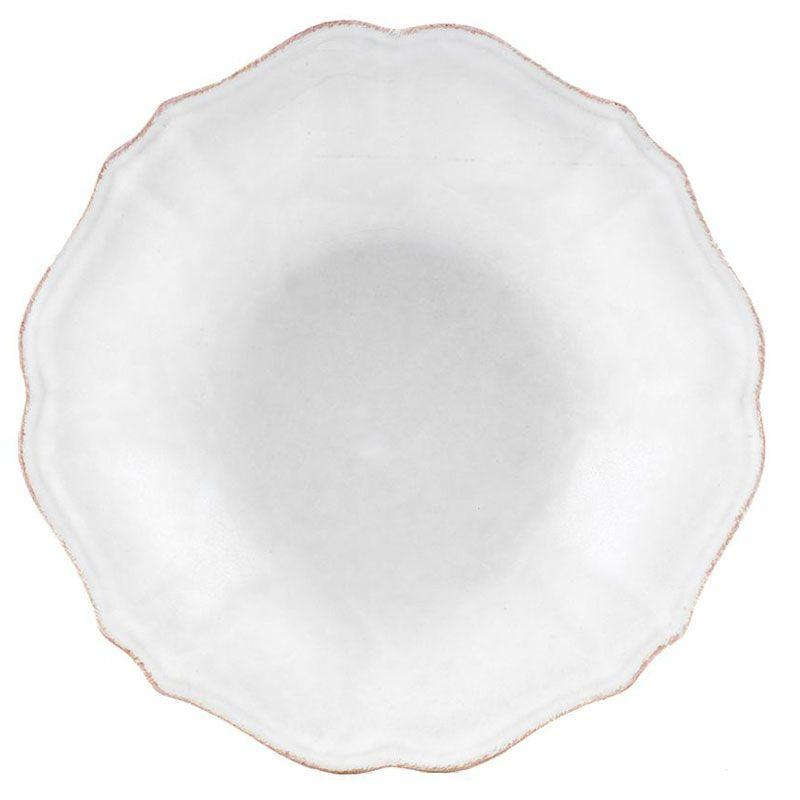 Белая суповая тарелка из коллекции каменной керамики Impressions