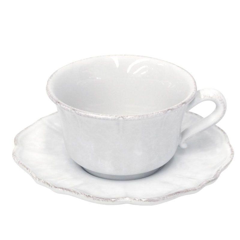 Чашки чайные с блюдцем, набор 6 шт Impressions