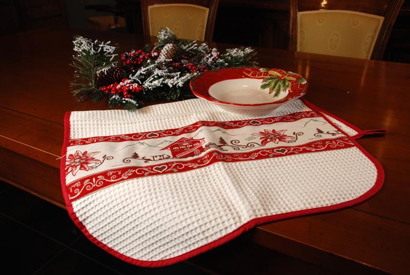 "Полотенце кухонное ""Рождество в шале"""