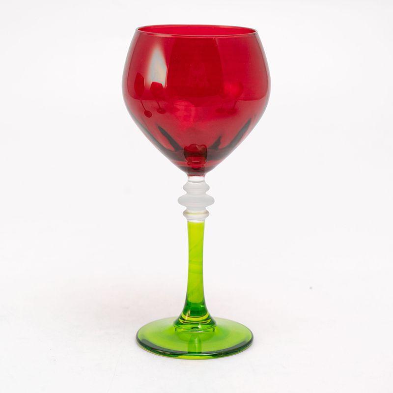 Набор красно-зеленых бокалов для воды, 6 шт