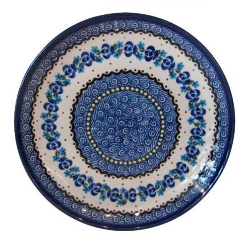 """Тарелка десертная с синим орнаментом """"Озерная свежесть"""" - фото"""