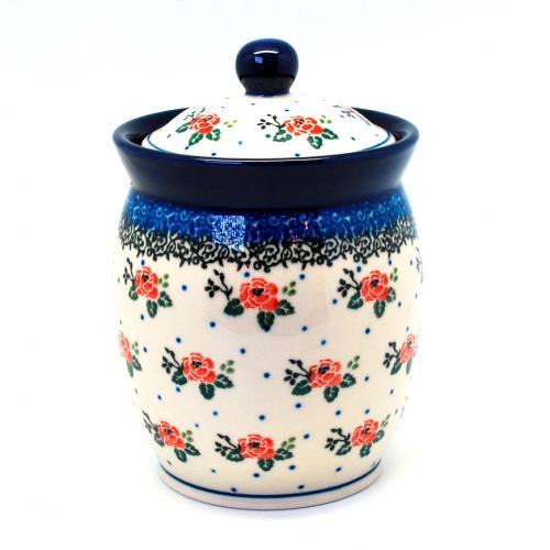 """Емкость для сыпучих из прочной керамики """"Чайная роза"""" - фото"""