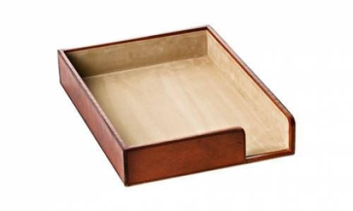 Лоток для бумаги кожаный William - фото