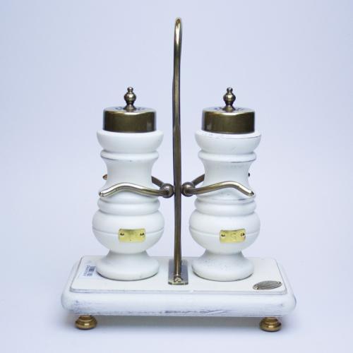 Набор для соли и перца на прямоугольной подставке - фото