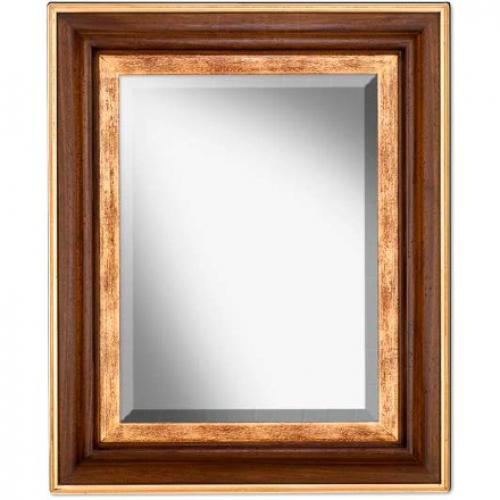 Зеркало прямоугольное настенное в раме - фото
