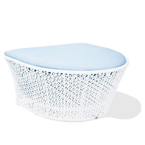 Плетеный пуф из искусственного ротанга с мягким сиденьем Nasa Skyline Design - фото