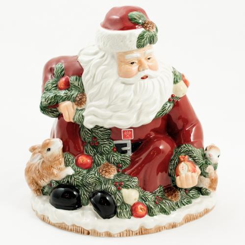 Бисквитник-емкость в виде Санты для печенья или конфет  - фото