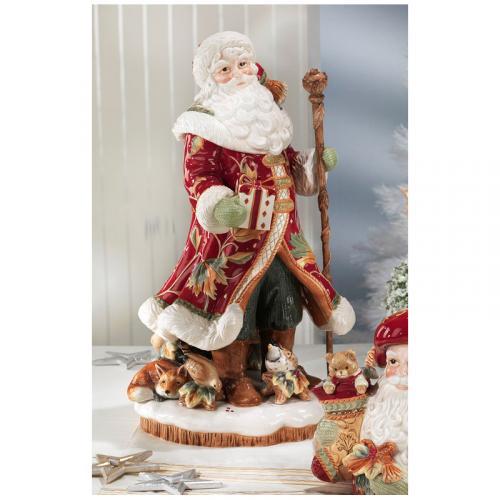 Роскошная керамическая статуэтка Деда Мороза - фото