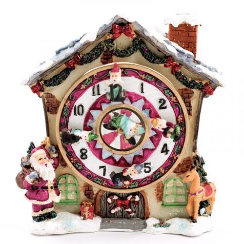 Музыкальный домик с часами - фото