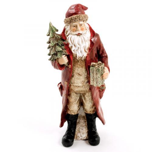 Реалистичная новогодняя статуэтка в виде Санты - фото