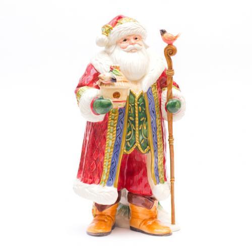 Большая керамическая статуэтка с ручной росписью Дед Мороз - фото