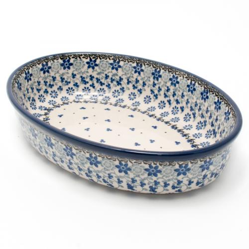 """Овальная форма для запекания из керамики """"Полевые цветы"""" - фото"""