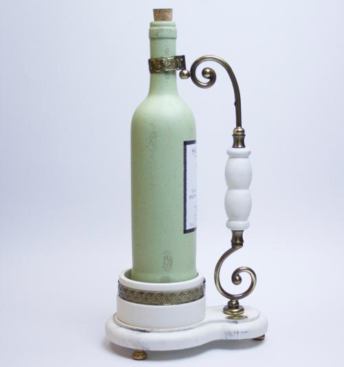 Подставка под бутылку из антикварного дерева Capanni - фото