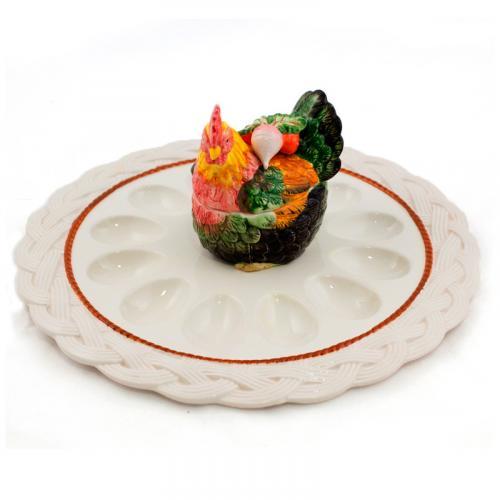 Блюдо для яиц и кулича - фото