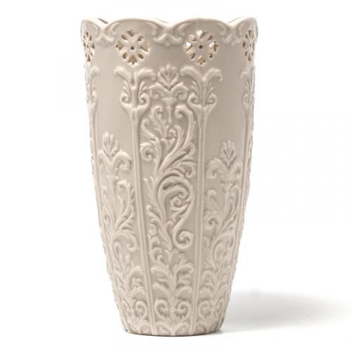 Ваза белая керамическая - фото