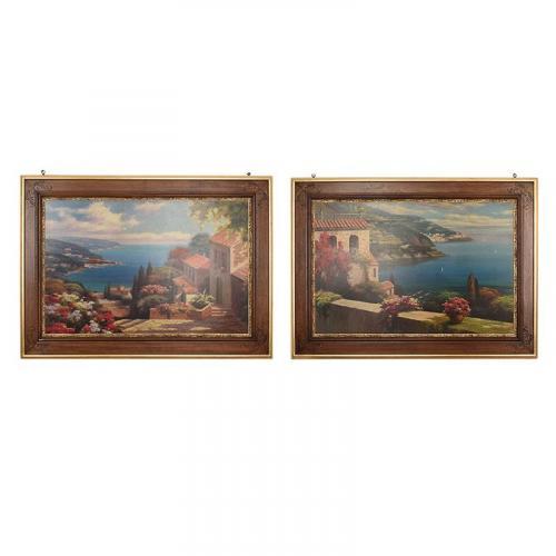 "Набор из 2 репродукций картин ""Голубая Бухта"" Rosa Chavez & Leon Ruiz - фото"