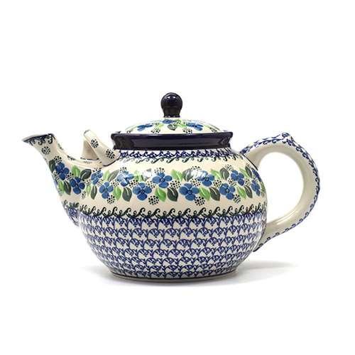 """Большой керамический чайник с орнаментом """"Вербена"""" - фото"""