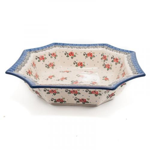 """Большой салатник из жаропрочной керамики """"Чайная роза"""" - фото"""