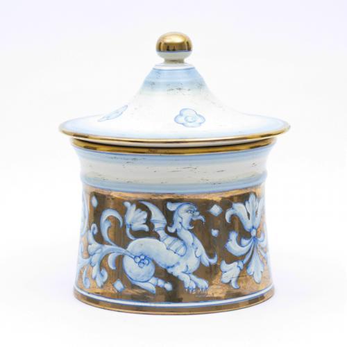 Керамическая шкатулка с изысканным орнаментом на позолоте Oro Antico - фото