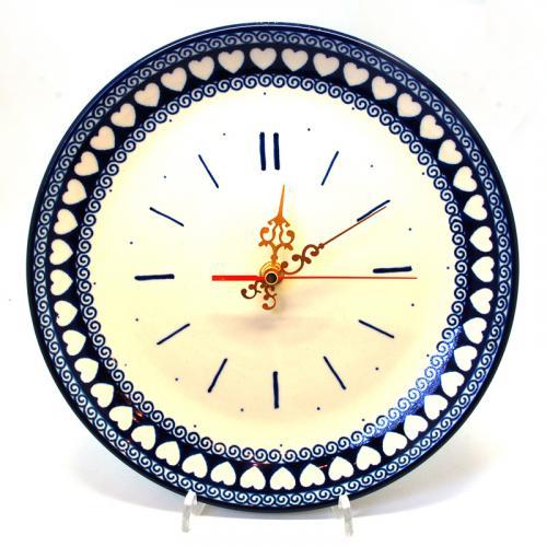 """Керамические часы с романтическим узором """"Валентинки"""" - фото"""