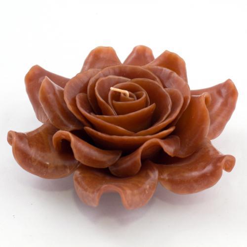 Свеча в виде розы в подарочной упаковке - фото