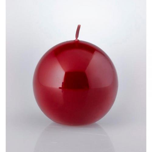 Свеча-шар Бордо - фото