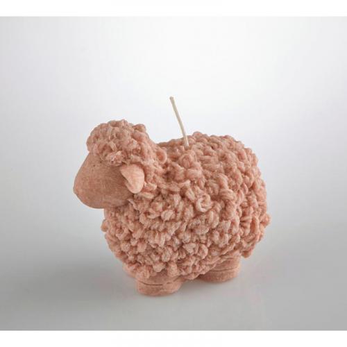 Небольшая фигурная свеча в виде овечки - фото