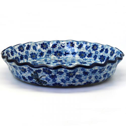 "Синяя форма для запекания для пирога ""Стрекоза"" - фото"