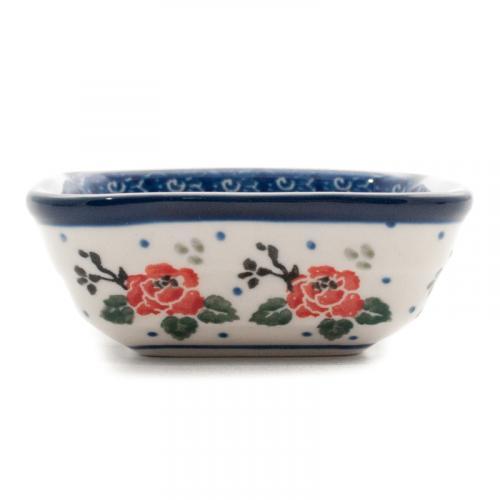 """Квадратная пиала для варенья из керамики """"Чайная роза"""" - фото"""