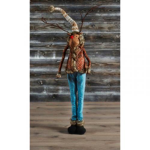"""Праздничная статуэтка в виде животного """"Модный олень"""" - фото"""