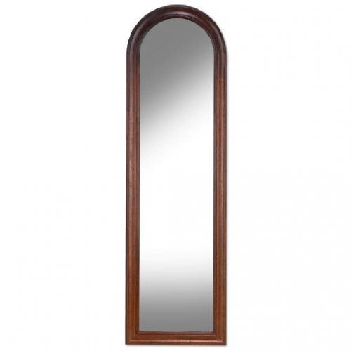 Высокое зеркало для прихожей или спальни в деревянной раме - фото