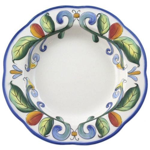 "Тарелка для супа с красочным орнаментом ""Петушки"" - фото"