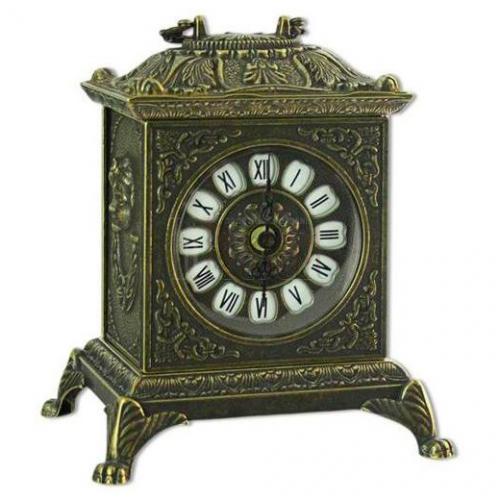 Часы для камина латунные в античном стиле - фото