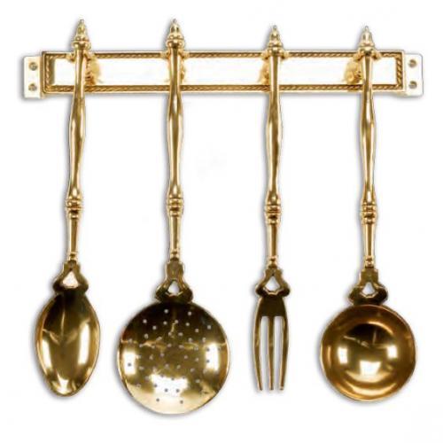 """Набор кухонный декоративный в цвете """"античное золото"""" - фото"""