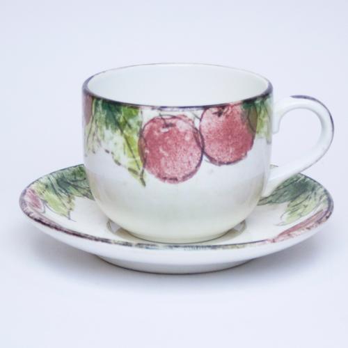 Набор чашек с блюдцами ручной росписи, Италия - фото