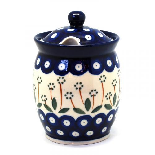 """Керамическая емкость для меда с крышкой """"Весенний сад"""" - фото"""