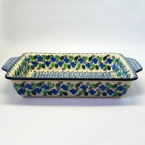 """Блюдо для выпекания с синим орнаментом керамическое """"Вербена"""" - фото"""