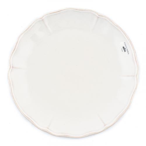 Белая керамическая тарелка для салата Alentejo - фото