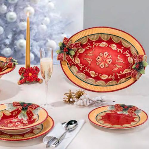 "Нарядная посуда для праздника ""Новогодний бант"" - фото"