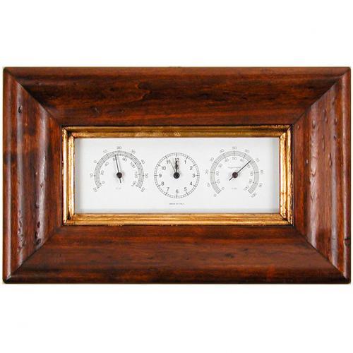 Часы с гидрометром и термометром - фото