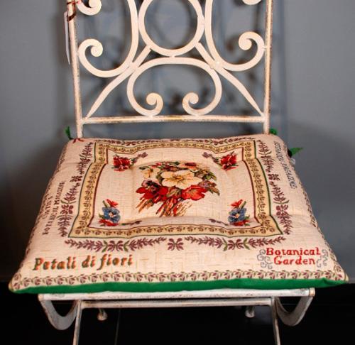 """Гобеленовая подушка для стула """"Ботанический сад"""" - фото"""
