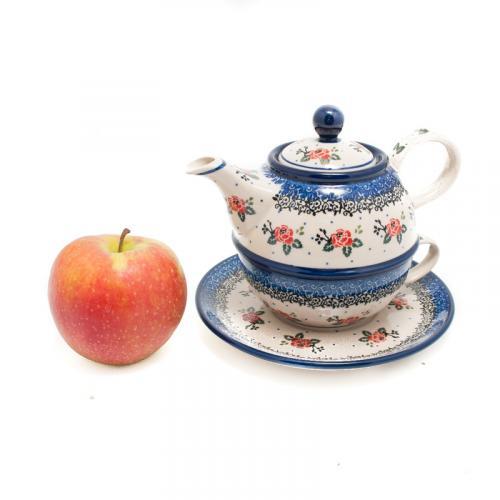 """Набор из заварника и чашки для чаепития """"Чайная роза"""" - фото"""