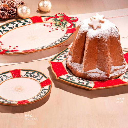 """Большие новогодние блюда коллекции """"Рождественский венок"""" - фото"""
