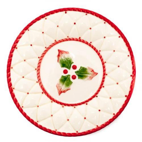 Новогодняя тарелка 20 см - фото