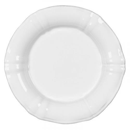 Набор белых десертных тарелок из керамики Village, 6 шт - фото