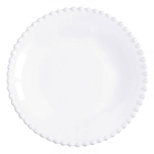 Тарелка для супа белая из прочной керамики Pearl - фото